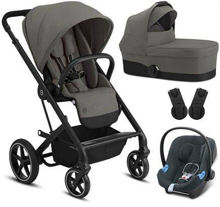 Cybex Balios S Lux Soho Grey + Aton B I-Size Bērnu rati 3in1