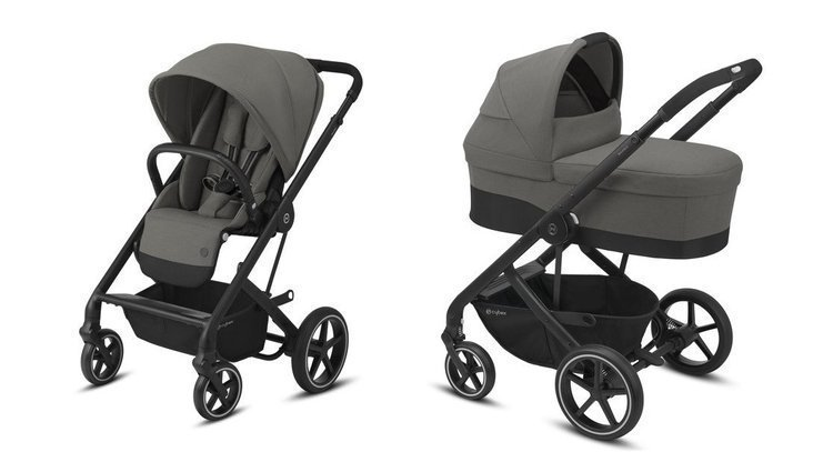 Cybex Balios S Lux Soho Grey Bērnu rati 2in1