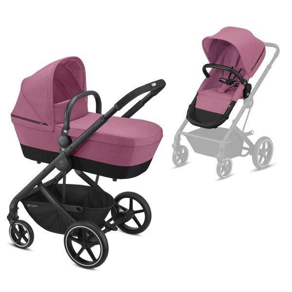 Cybex Balios S Magnolia Pink Bērnu rati 2in1
