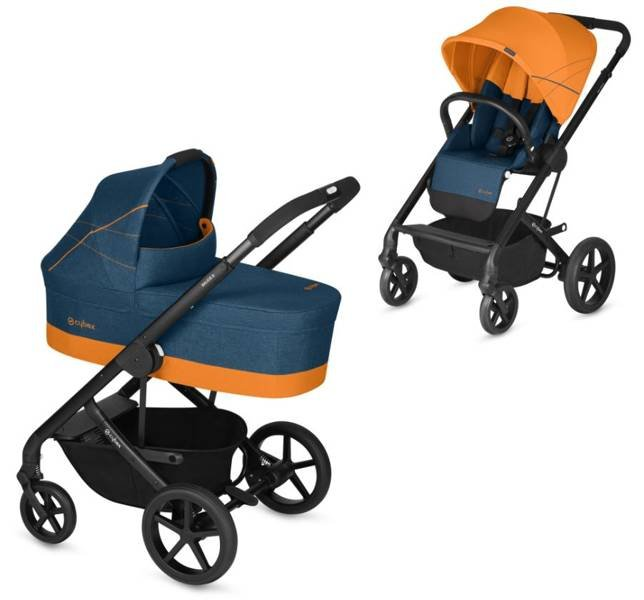 Cybex Balios S Tropical Blue Bērnu rati 2in1