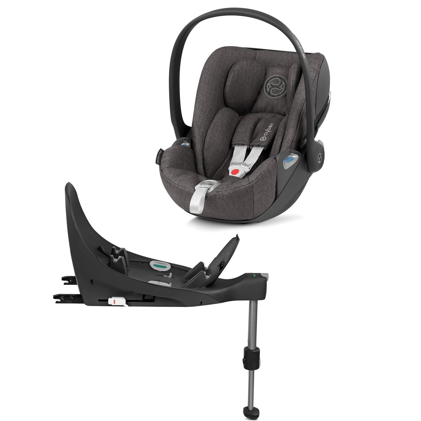 Cybex Cloud Z I-Size + ISOFIX Base Manhattan Grey Plus Bērnu autosēdeklis 0-13 kg