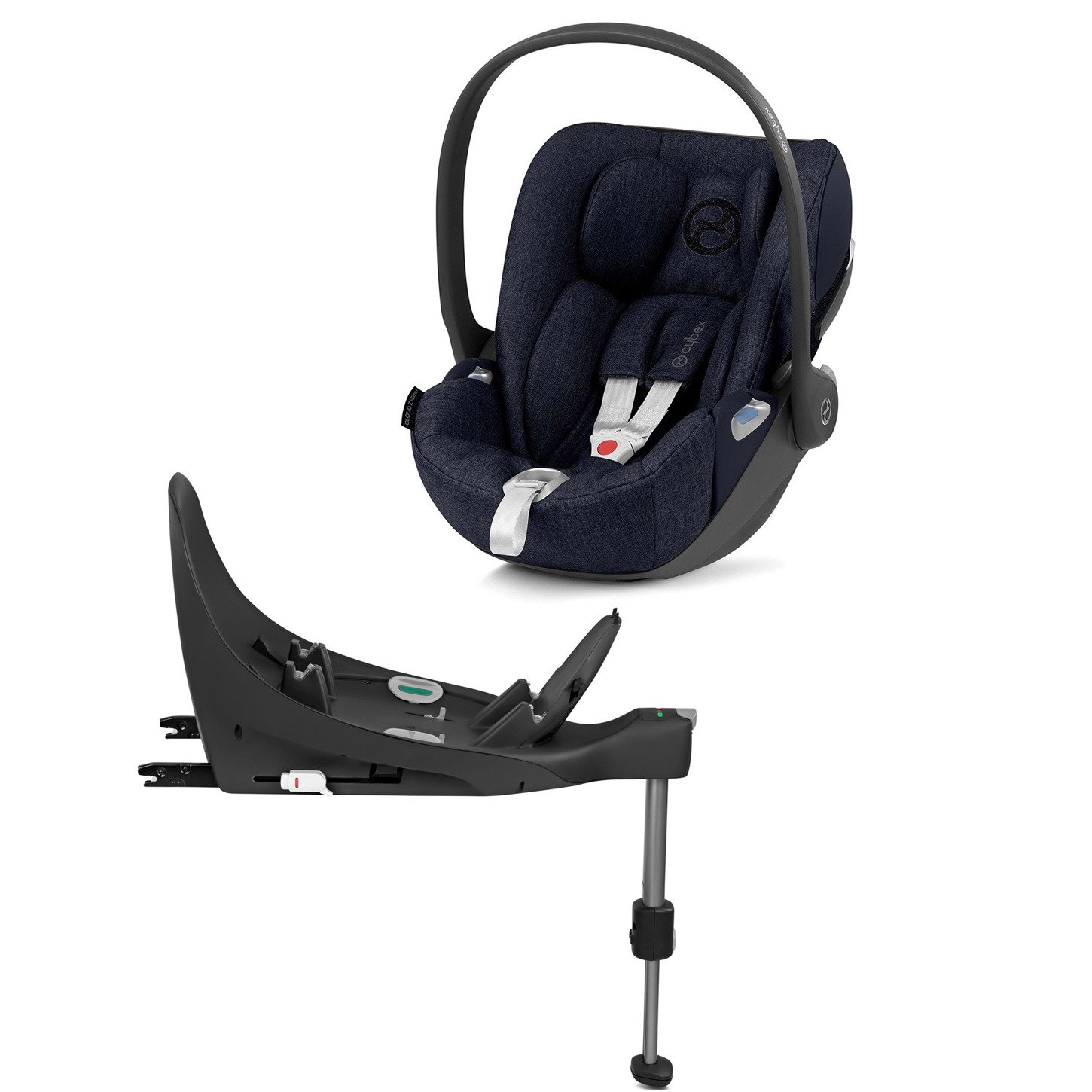 Cybex Cloud Z I-Size + ISOFIX Base Midnight Blue Plus Bērnu autosēdeklis 0-13 kg