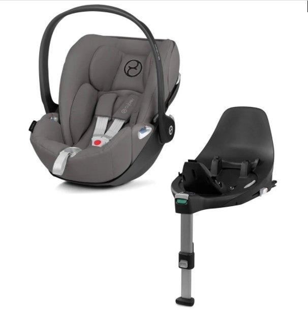 Cybex Cloud Z I-Size + ISOFIX Base Soho Grey Bērnu autosēdeklis 0-13 kg