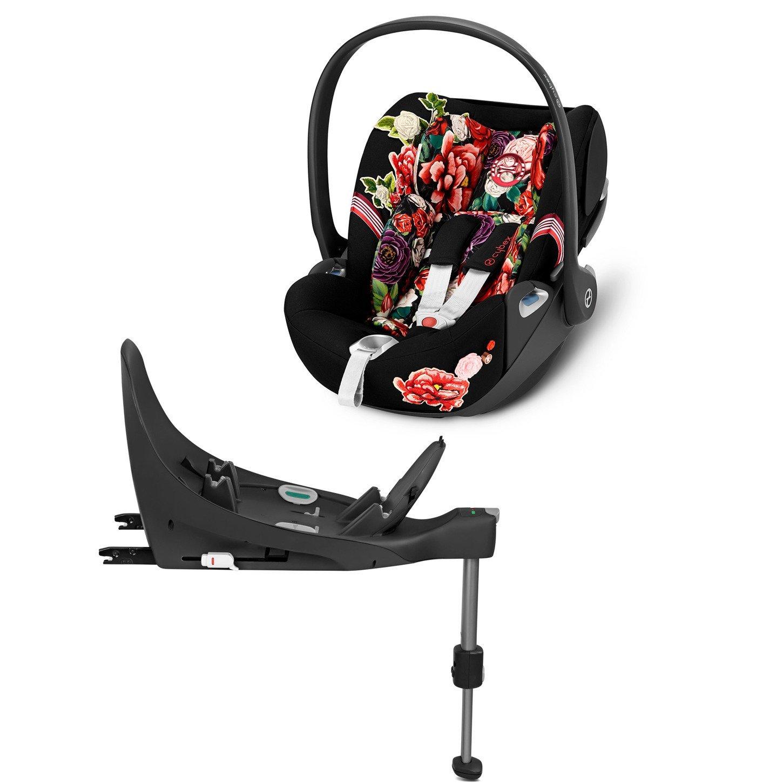 Cybex Cloud Z I-Size + ISOFIX Base Spring Blossom Dark Bērnu autosēdeklis 0-13 kg