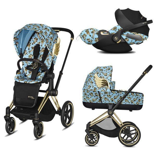 Cybex e-Priam 2.0 + Cloud Z I-size Cherub Blue by Jeremy Scott Bērnu rati 3in1