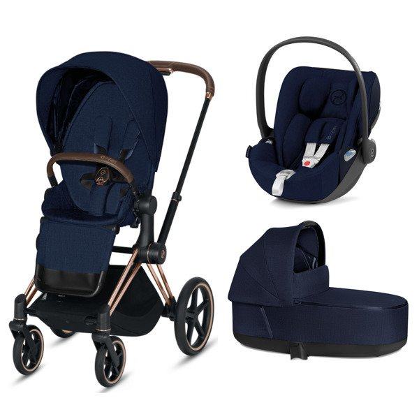 Cybex e-Priam 2.0 + Cloud Z I-size Indigo Blue Plus Bērnu rati 3in1