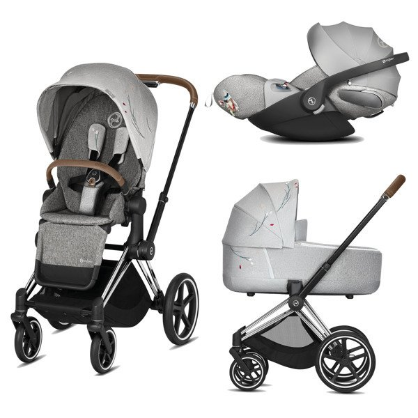Cybex e-Priam 2.0 + Cloud Z I-size Koi Crystallized Bērnu rati 3in1