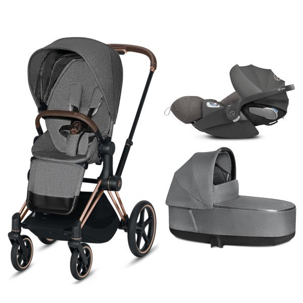 Cybex e-Priam 2.0 + Cloud Z I-size Manhattan Grey Plus Bērnu rati 3in1