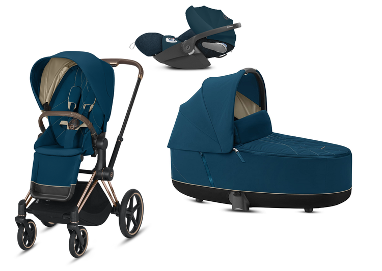 Cybex e-Priam 2.0 + Cloud Z I-size Mountain Blue Bērnu rati 3in1