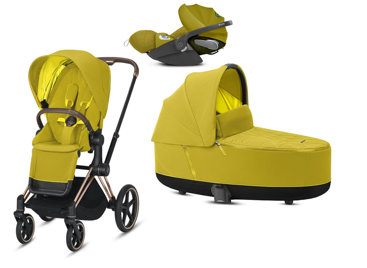 Cybex e-Priam 2.0 + Cloud Z I-size Mustard Yellow Bērnu rati 3in1