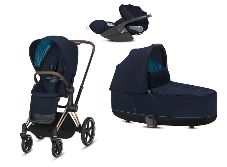 Cybex e-Priam 2.0 + Cloud Z I-size Nautical Blue Bērnu rati 3in1