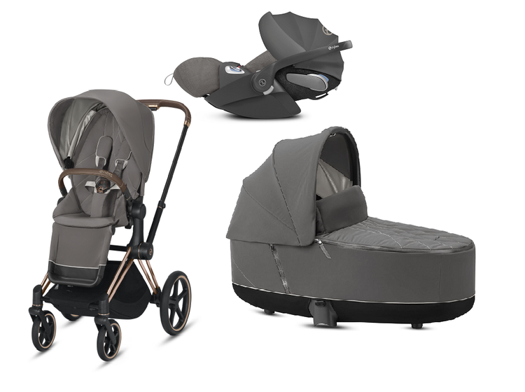 Cybex e-Priam 2.0 + Cloud Z I-size Soho Grey Bērnu rati 3in1