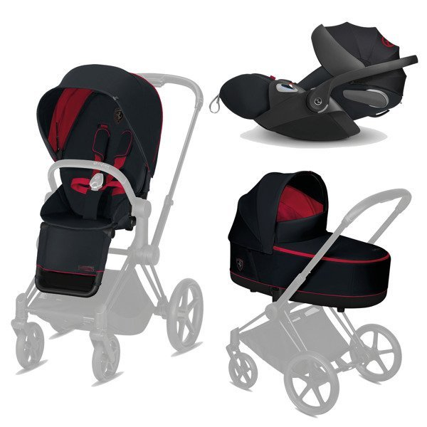 Cybex e-Priam 2.0 + Cloud Z I-size Victory Black - Ferrari Bērnu rati 3in1