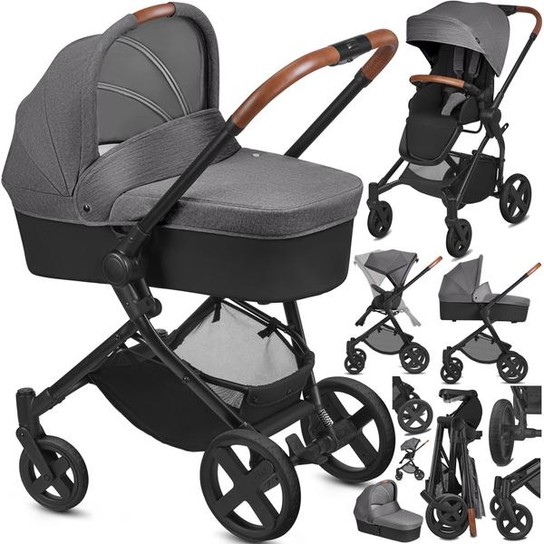 Cybex Kody Pure Lux Comfy Grey Bērnu rati 2in1