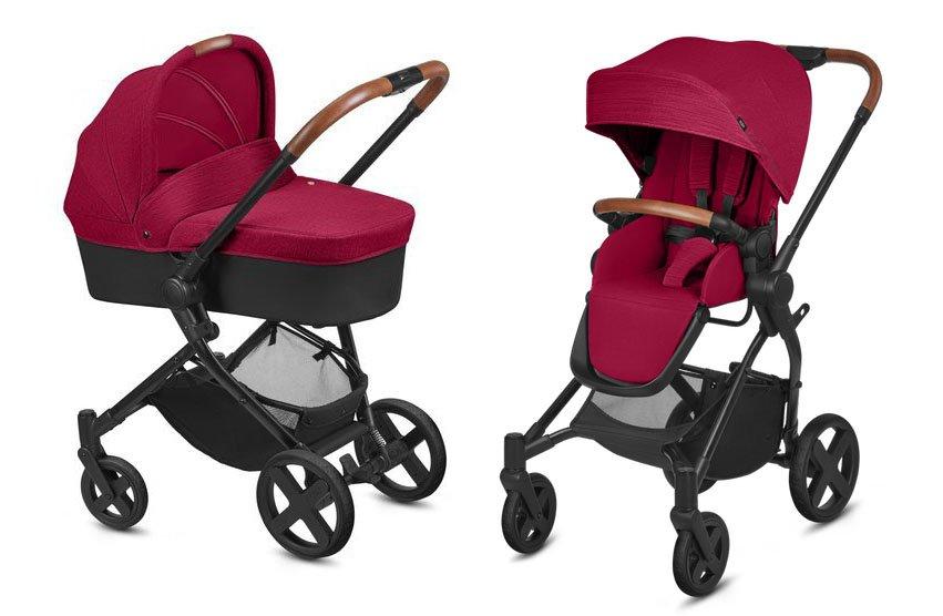 Cybex Kody Pure Lux Crunchy Red Bērnu rati 2in1