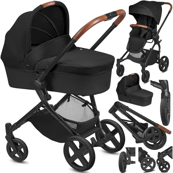 Cybex Kody Pure Lux Smoky Anthracite Bērnu rati 2in1
