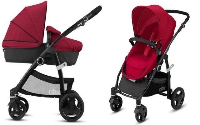 Cybex Leotie Flex Crunchy Red Bērnu rati 2in1