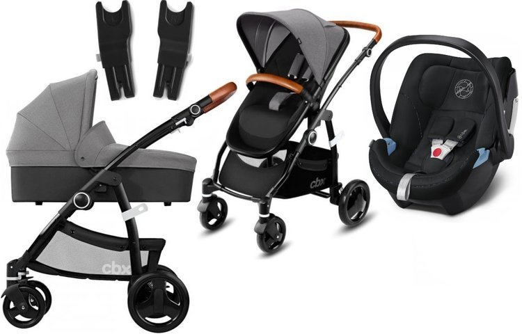 Cybex Leotie Lux Comfy Grey + Aton 5 Bērnu rati 3in1