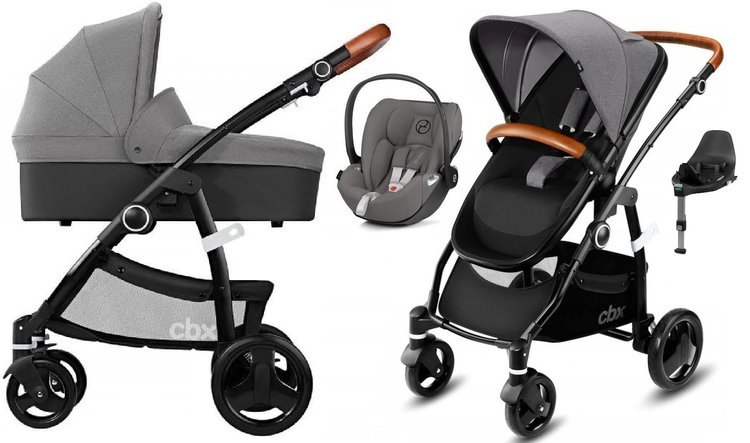 Cybex Leotie Lux Comfy Grey + Cloud Z I-Size + Baza Z-Fix Bērnu rati 4in1
