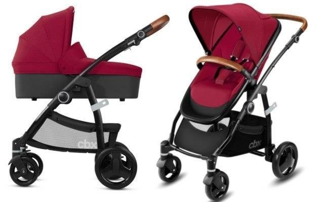 Cybex Leotie Lux Crunchy Red Bērnu rati 2in1