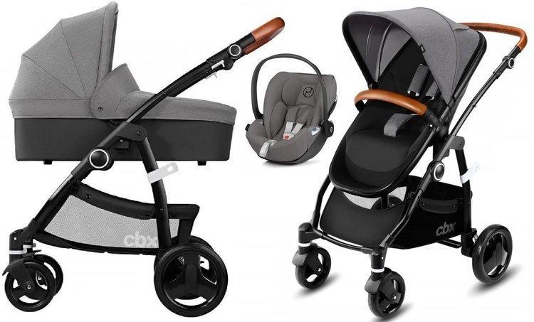 Cybex Leotie Lux Gomfy Grey + Cloud Z I-Size Bērnu rati 3in1