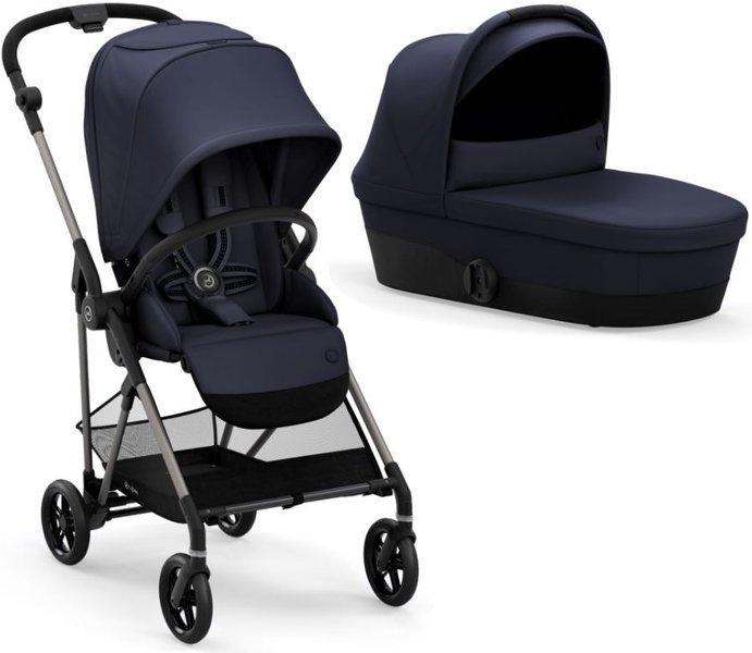 Cybex Melio 2.0 Navy Blue Bērnu rati 2in1
