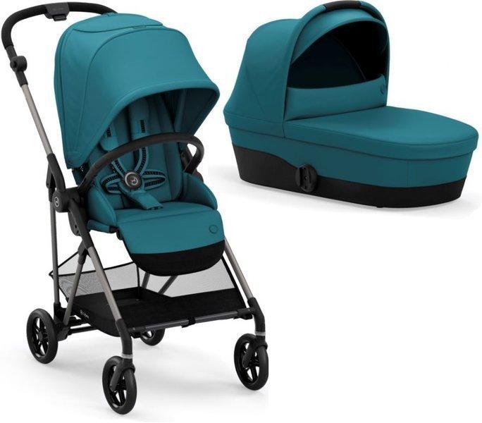 Cybex Melio 2.0 River Blue Bērnu rati 2in1
