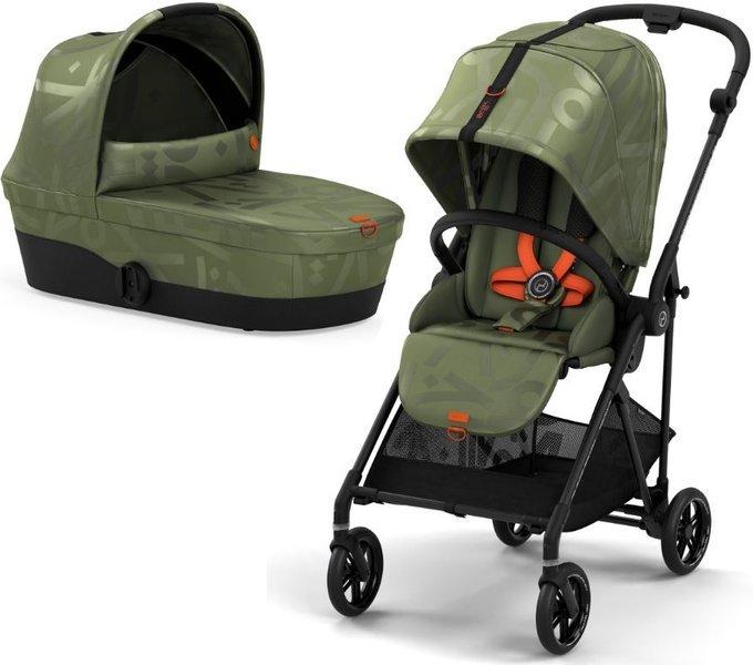 Cybex Melio Street Olive Green Bērnu rati 2in1