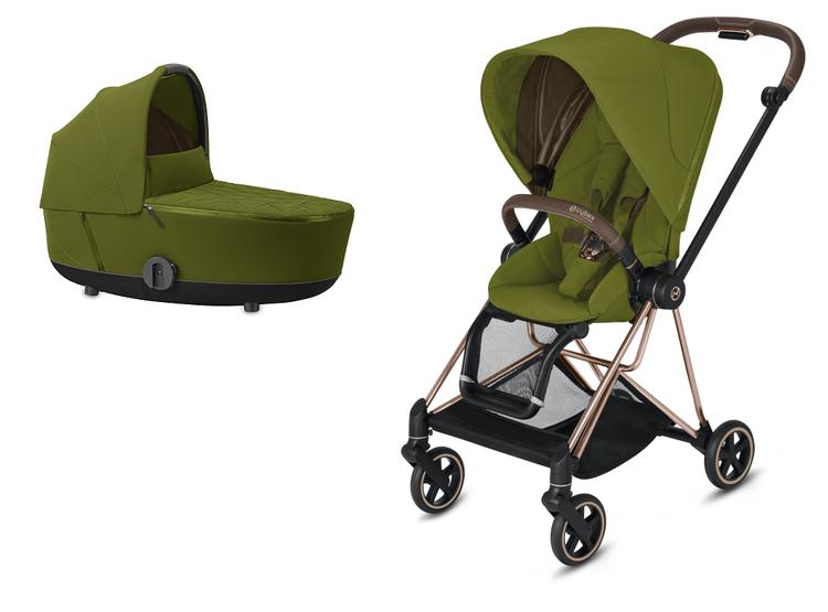 Cybex Mios Khaki Green Bērnu rati 2in1