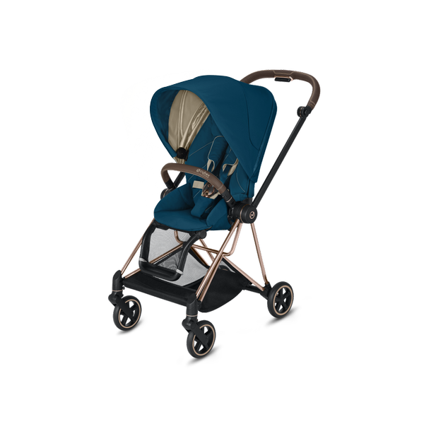 Cybex Mios Mountain Blue + Rose Gold Frame Sporta rati