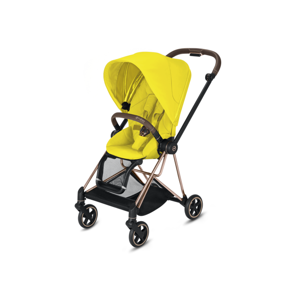 Cybex Mios Mustard Yellow + Rose Gold Frame Sporta rati