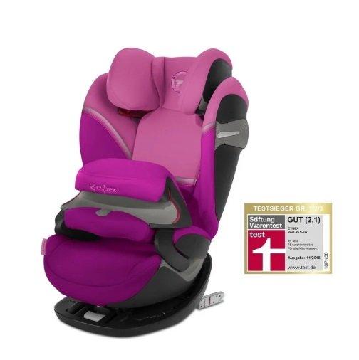 Cybex Pallas S-Fix Magnolia Pink Bērnu autosēdeklis 9-36 kg