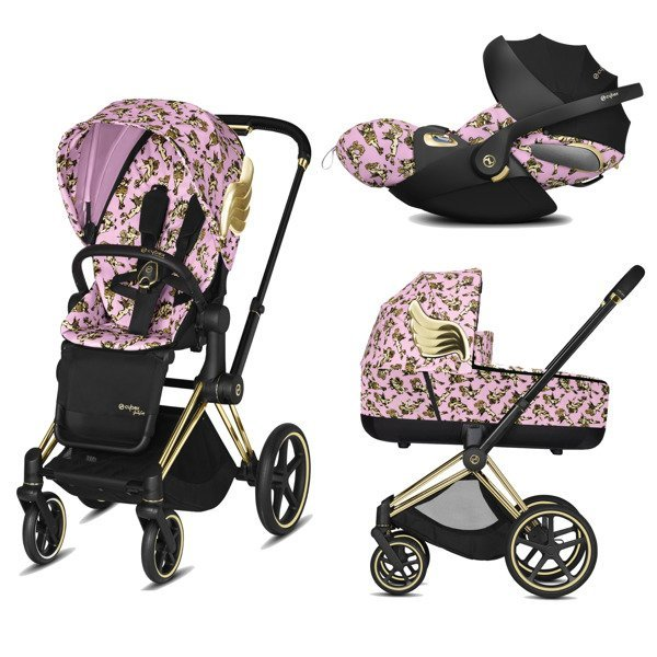 Cybex Priam 2.0 + Cloud Z I-size Cherub Pink by Jeremy Scott Bērnu rati 3in1