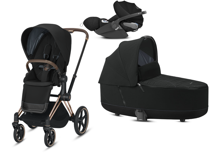 Cybex Priam 2.0 + Cloud Z I-size Deep Black Bērnu rati 3in1