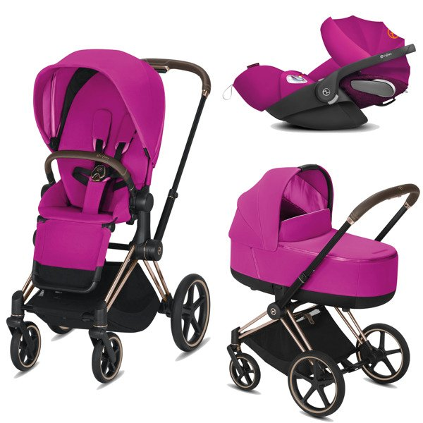 Cybex Priam 2.0 + Cloud Z I-size Fancy Pink Bērnu rati 3in1
