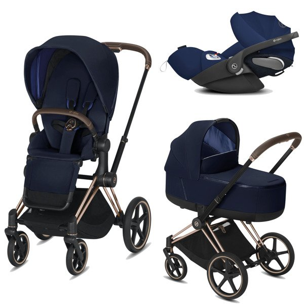 Cybex Priam 2.0 + Cloud Z I-size Indigo Blue Bērnu rati 3in1