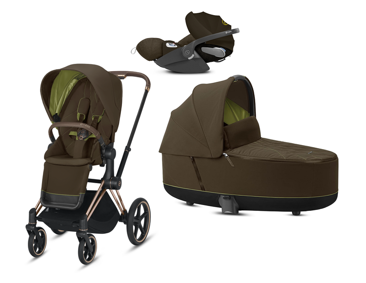 Cybex Priam 2.0 + Cloud Z I-size Khaki Green Bērnu rati 3in1