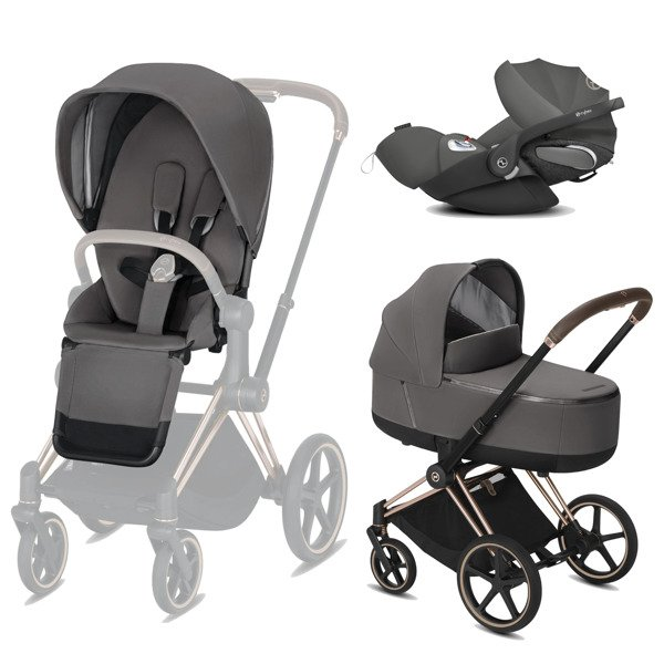 Cybex Priam 2.0 + Cloud Z I-size Manhattan Grey Bērnu rati 3in1