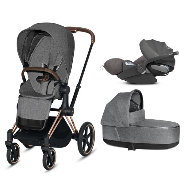Cybex Priam 2.0 + Cloud Z I-size Manhattan Grey Plus Bērnu rati 3in1