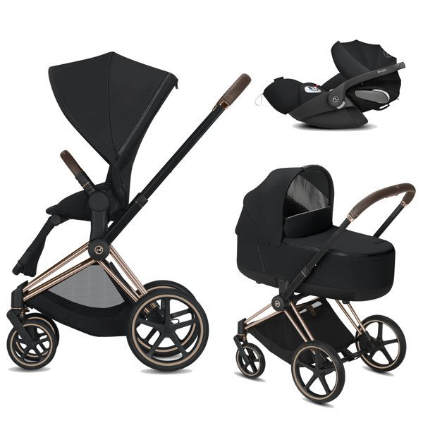 Cybex Priam 2.0 + Cloud Z I-size Premium Black Bērnu rati 3in1
