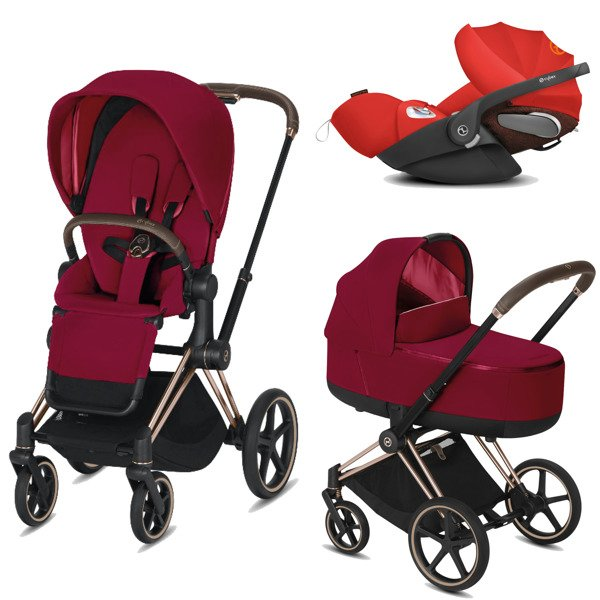 Cybex Priam 2.0 + Cloud Z I-size True Red Bērnu rati 3in1