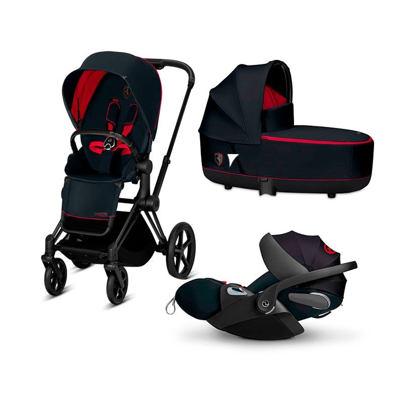 Cybex Priam 2.0 + Cloud Z I-size Victory Black - Ferrari Bērnu rati 3in1