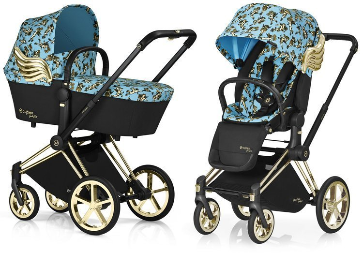 Cybex Priam Cherub Blue by Jeremy Scott Bērnu rati 2in1