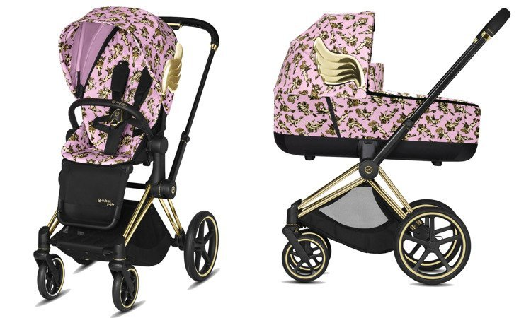 Cybex Priam Cherub Pink by Jeremy Scott Bērnu rati 2in1