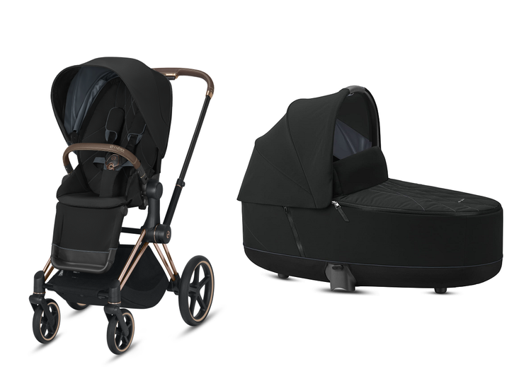 Cybex Priam Deep Black Bērnu rati 2in1