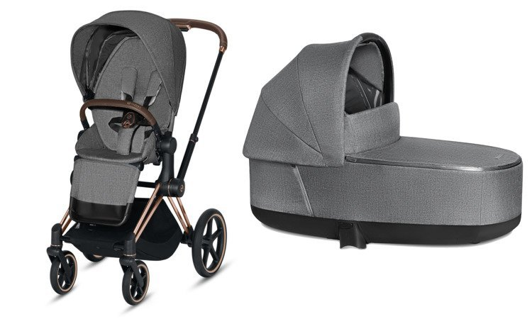 Cybex Priam Manhattan Grey Plus Bērnu rati 2in1
