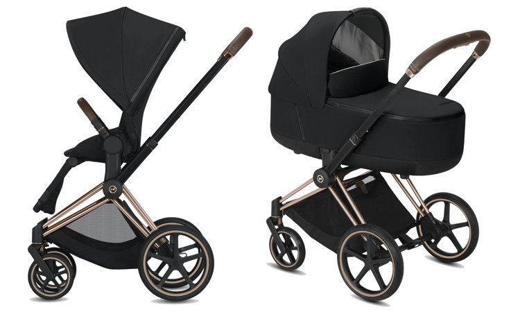 Cybex Priam Premium Black Bērnu rati 2in1