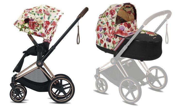 Cybex Priam Spring Blossom Light Bērnu rati 2in1