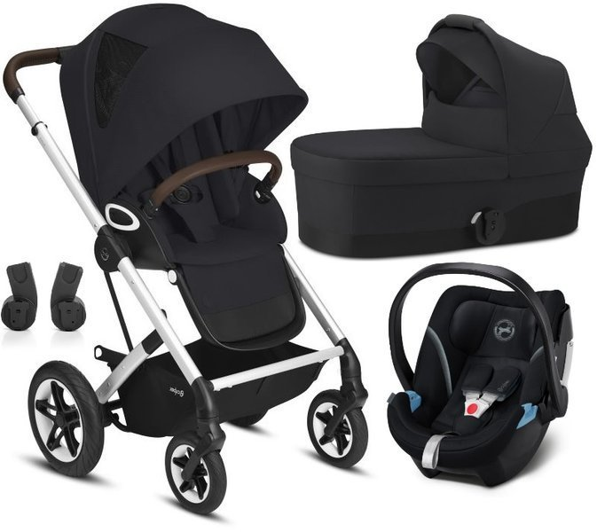 Cybex Talos S Lux Deep Black + Aton 5 Bērnu rati 3in1