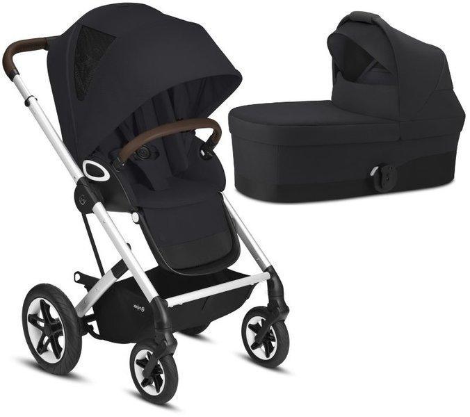Cybex Talos S Lux Deep Black Bērnu rati 2in1